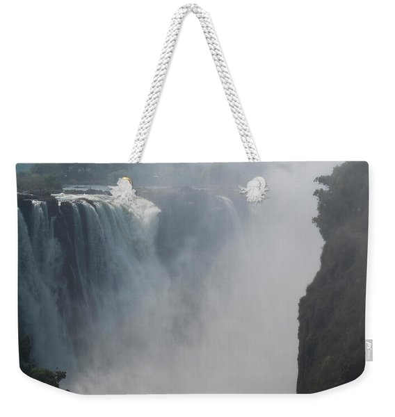 Elevated View Of Waterfall, Devils Weekender Tote Bag