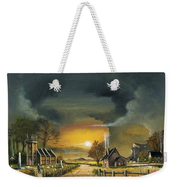 End Of The Day Weekender Tote Bag