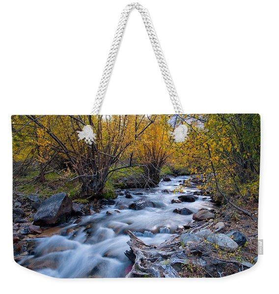 Fall At Big Pine Creek Weekender Tote Bag