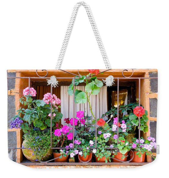 Flowers In A Mexican Window Weekender Tote Bag