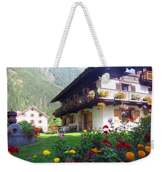 Flowery House Weekender Tote Bag
