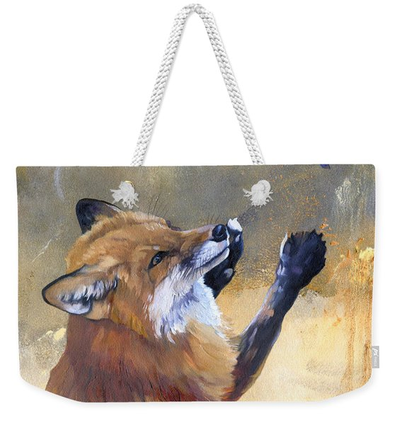 Fox Dances For Hummingbird Weekender Tote Bag