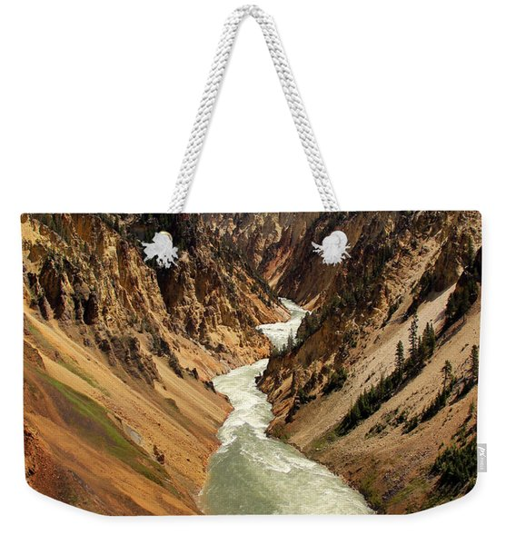 Weekender Tote Bag featuring the photograph Grand Canyon Of Yellowstone by Jemmy Archer