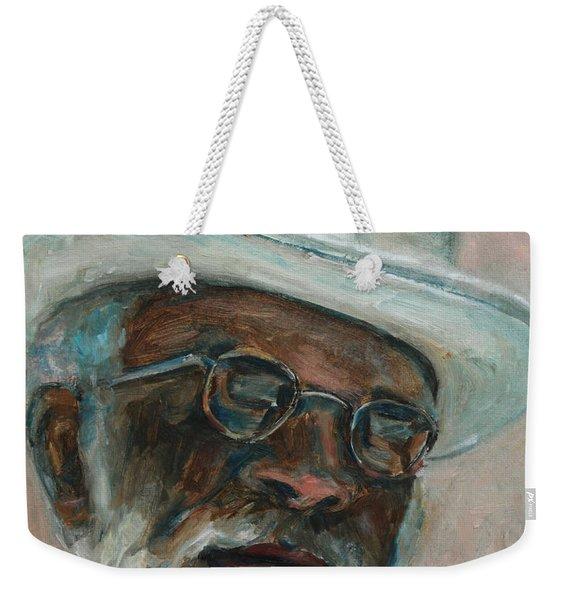 Gray Beard Under White Hat Weekender Tote Bag