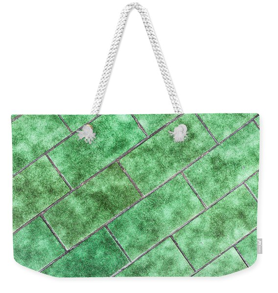 Green Tiles Weekender Tote Bag