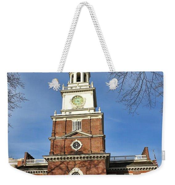 Independence Hall In Philadelphia Weekender Tote Bag
