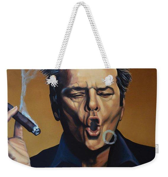 Jack Nicholson Painting Weekender Tote Bag
