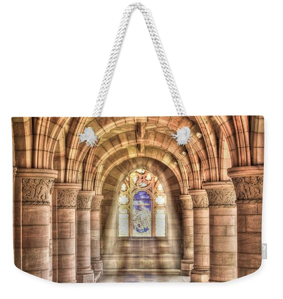 Weekender Tote Bag featuring the photograph Kelso Abbey by Susan Leonard