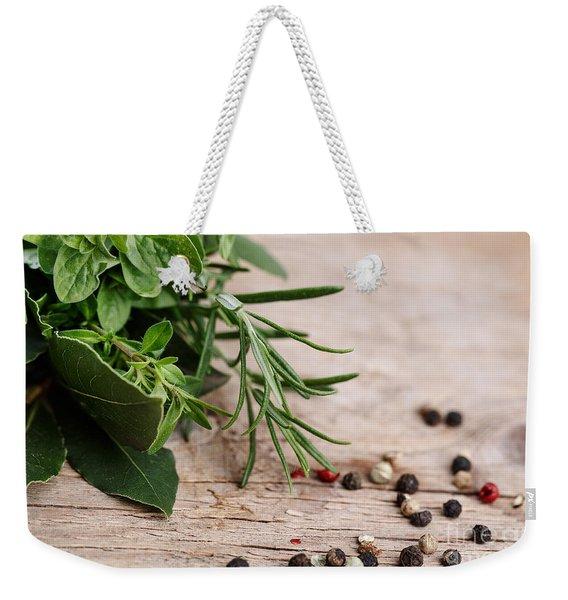 Kitchen Herbs Weekender Tote Bag