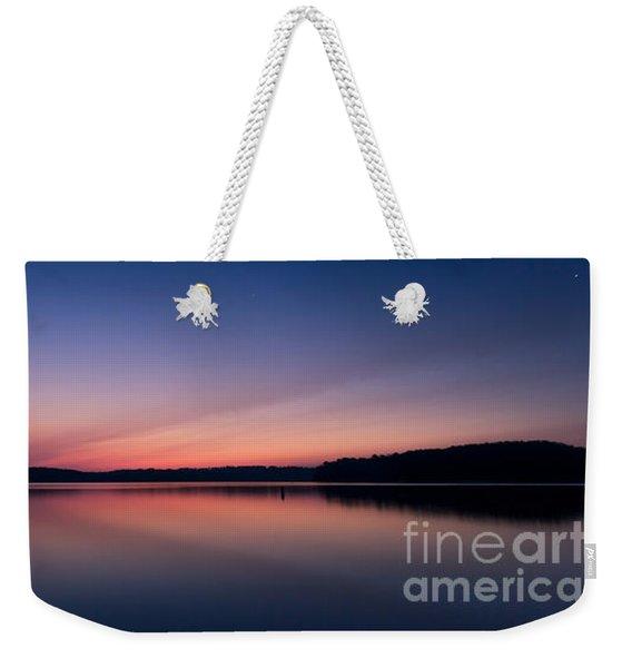 Lake Lanier After Sunset Weekender Tote Bag