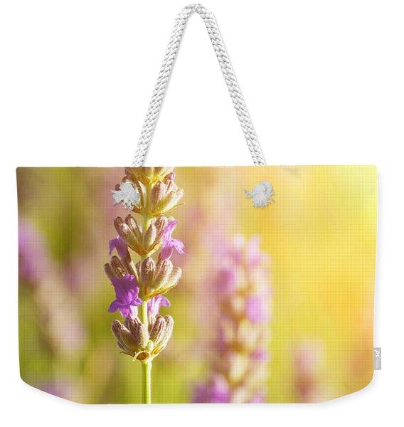 Lavender Flowers Weekender Tote Bag