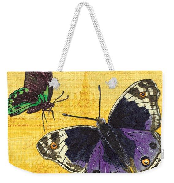 Le Papillon 4 Weekender Tote Bag