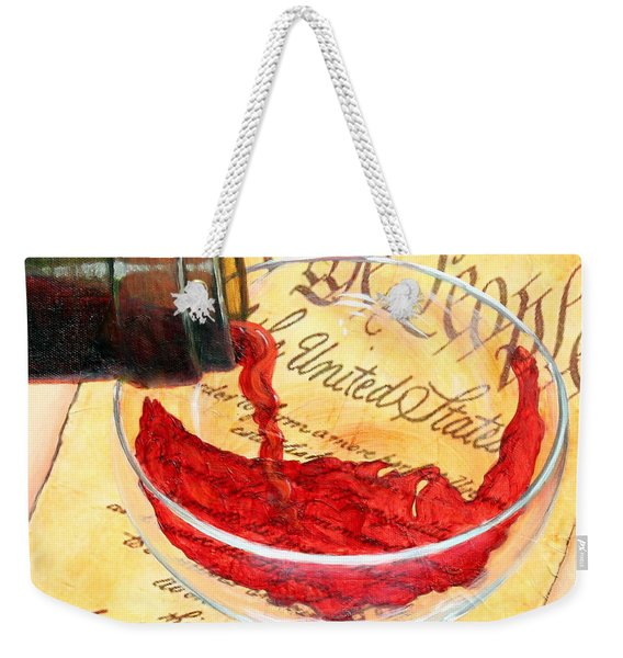 Weekender Tote Bag featuring the painting Let Freedom Ring by Sandi Whetzel