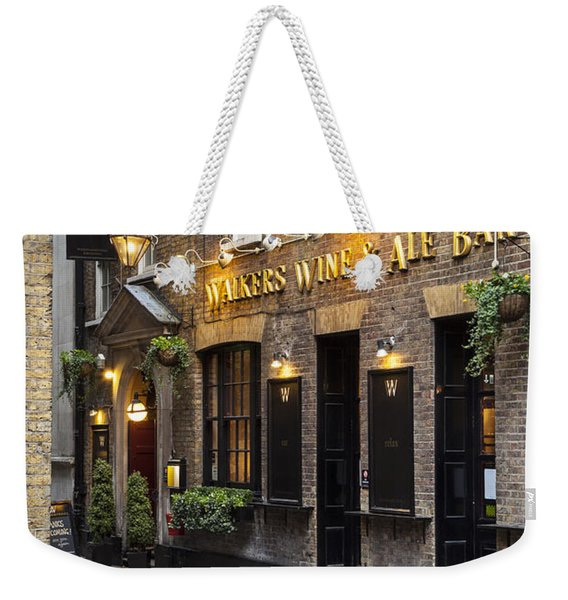 Weekender Tote Bag featuring the photograph London Pub by Brian Jannsen