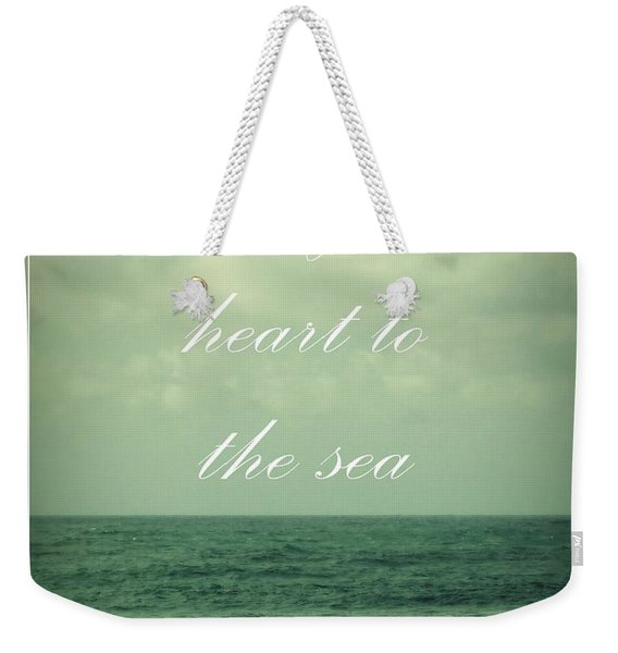Weekender Tote Bag featuring the photograph Lose Your Heart To The Sea by Patricia Strand