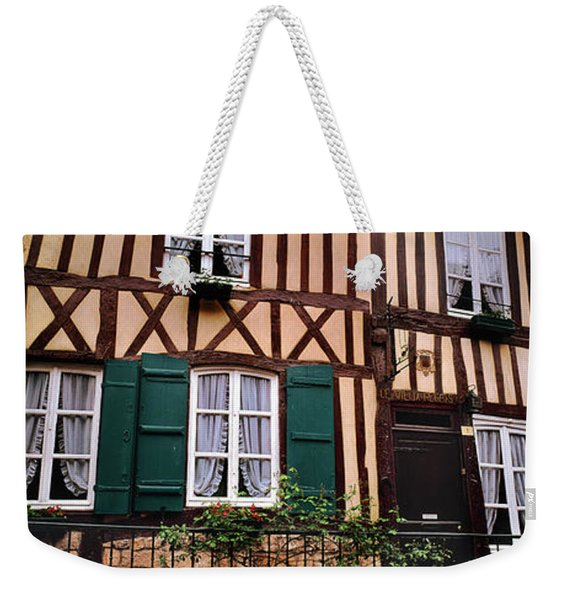 Low Angle View Of Houses Weekender Tote Bag