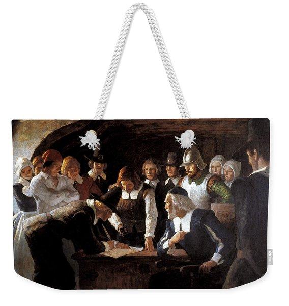 Mayflower Compact, 1620 Weekender Tote Bag