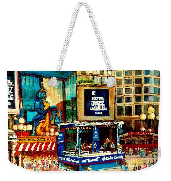 Montreal International Jazz Festival Weekender Tote Bag