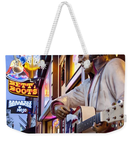 Weekender Tote Bag featuring the photograph Music City Usa by Brian Jannsen