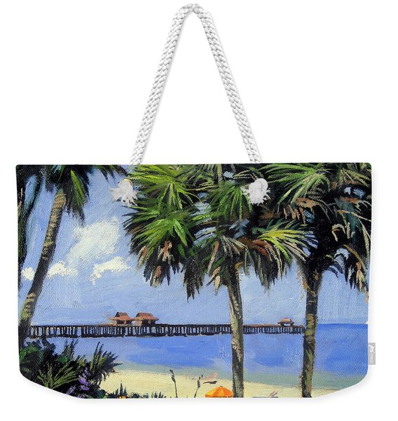 Naples Pier Naples Florida Weekender Tote Bag