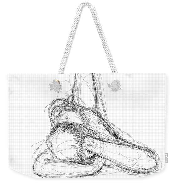 Nude Male Sketches 2 Weekender Tote Bag