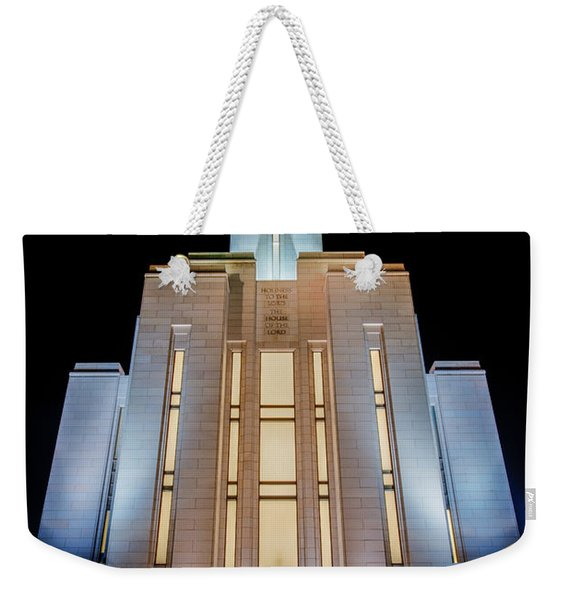 Oquirrh Mountain Temple 1 Weekender Tote Bag