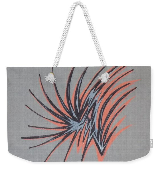 Orange Burst Weekender Tote Bag