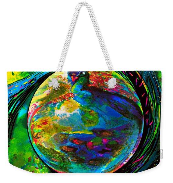Orb Of Pavone Weekender Tote Bag