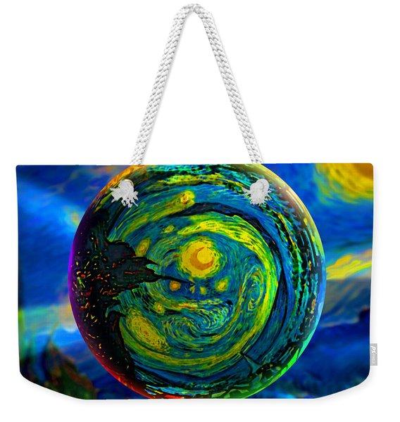 Orbiting A Starry Night  Weekender Tote Bag