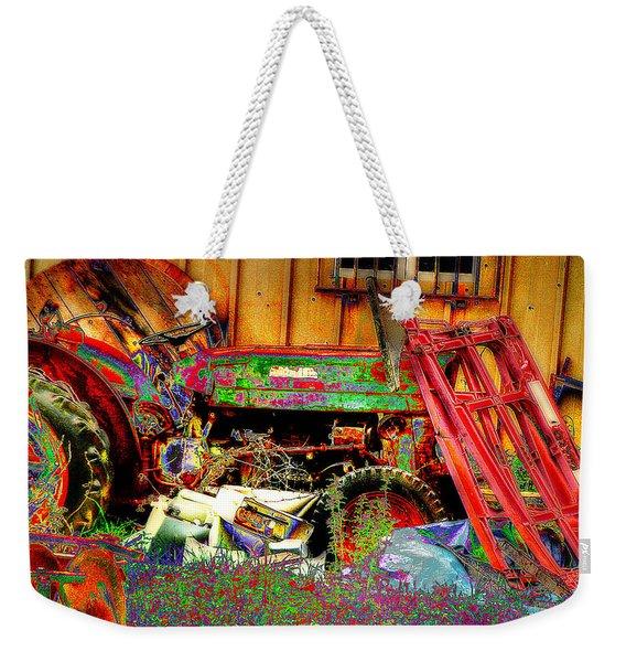 Pop Art Tractor Weekender Tote Bag