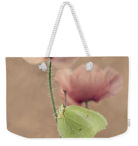 Weekender Tote Bag featuring the photograph Poppies by Jaroslaw Blaminsky