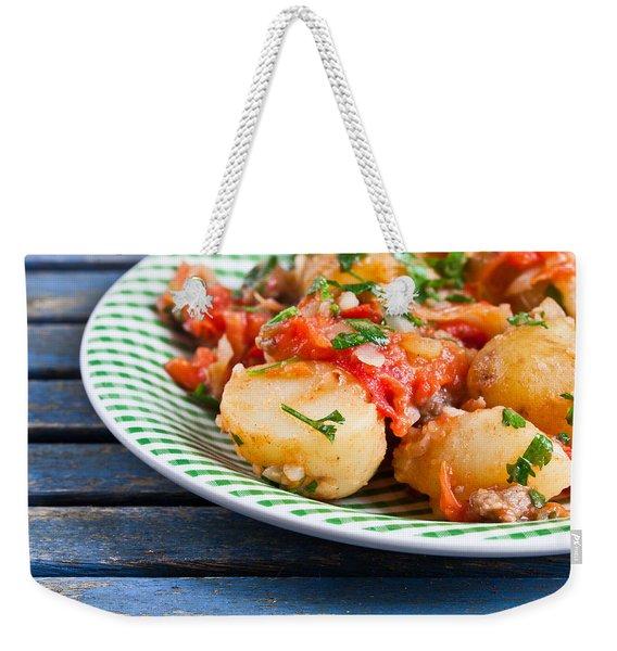Potatos And Chipolatas Weekender Tote Bag