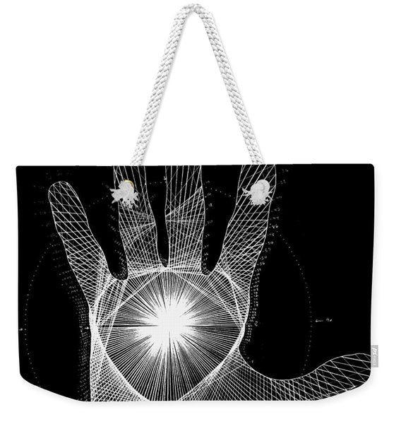 Quantum Hand Through My Eyes Weekender Tote Bag