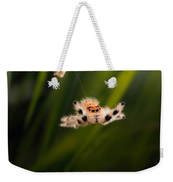 Regal Jumping Spider Jumping Weekender Tote Bag