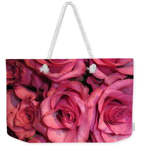Rosebouquet In Pink Weekender Tote Bag