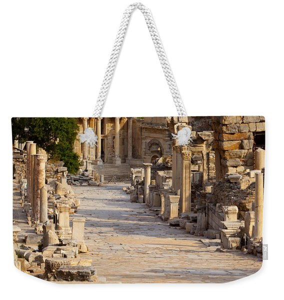 Weekender Tote Bag featuring the photograph Ruins Of Ephesus by Brian Jannsen