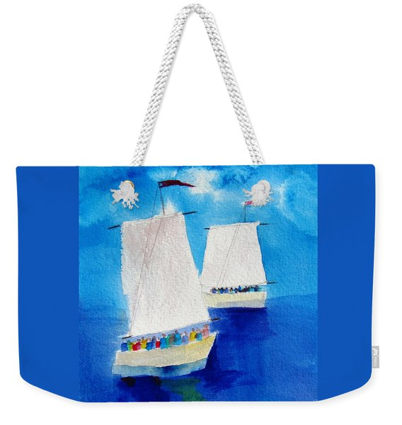 2 Sailboats Weekender Tote Bag