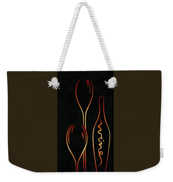 Weekender Tote Bag featuring the painting Simply Wine by Sandi Whetzel