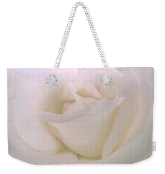 Softness Of A White Rose Flower Weekender Tote Bag