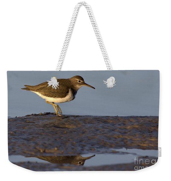 Spotted Sandpiper Reflection Weekender Tote Bag