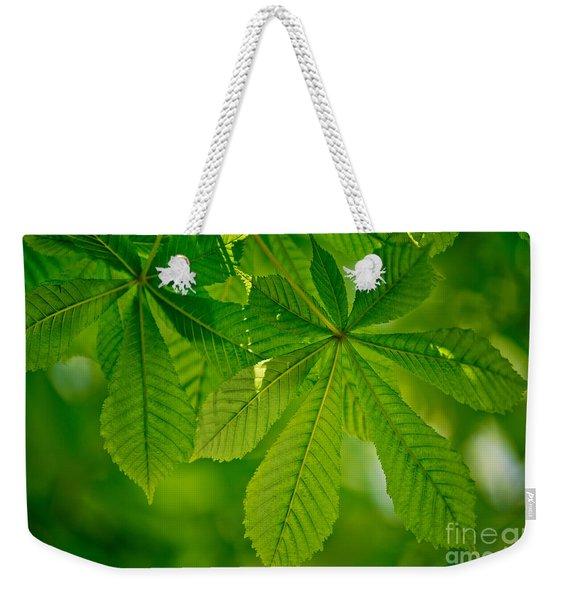 Spring Green Weekender Tote Bag