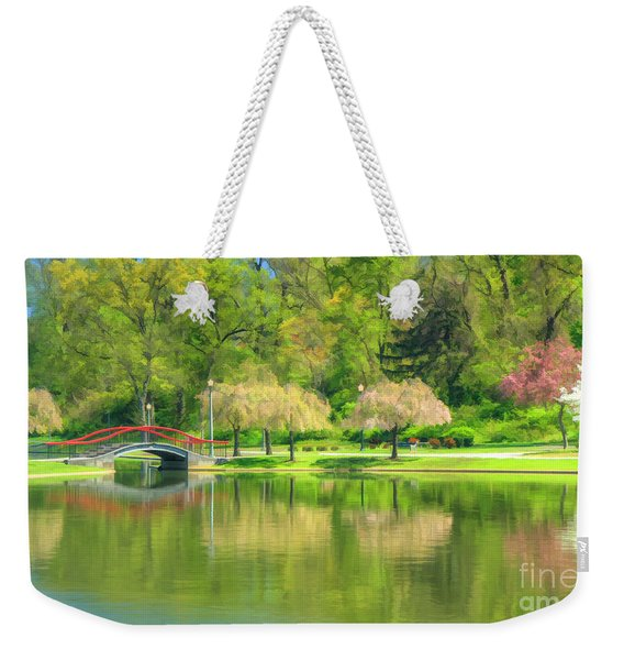 Springtime Reflections Weekender Tote Bag