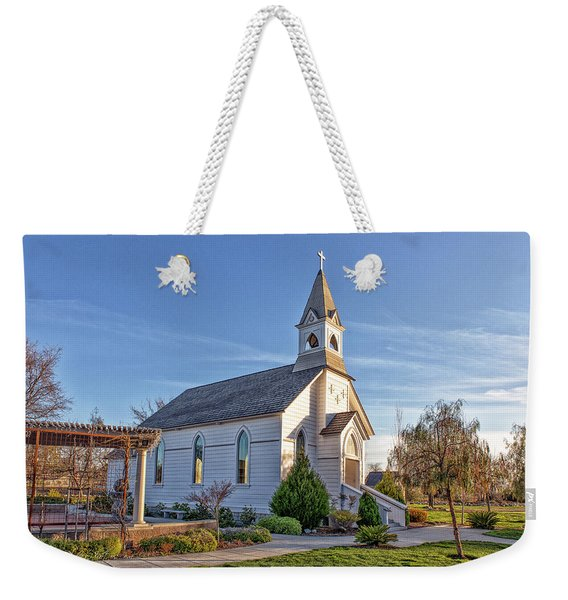 Weekender Tote Bag featuring the photograph St. Mary's Chapel by Jim Thompson