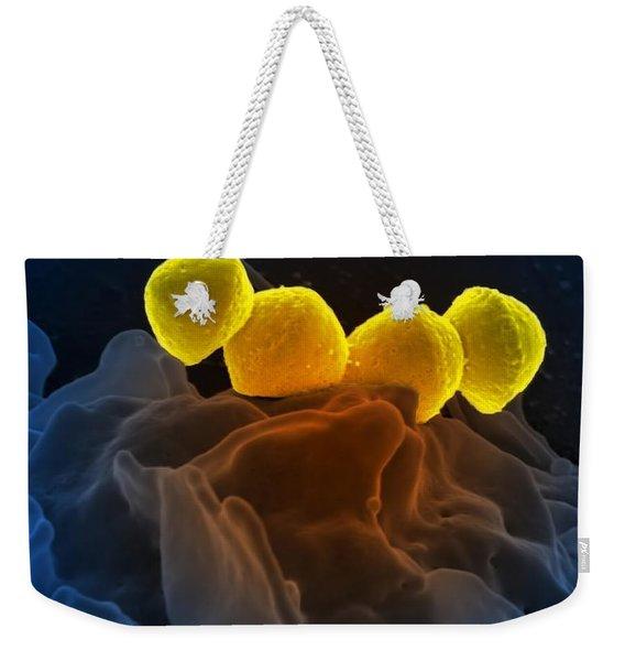 Streptococcus Pyogenes Bacteria Sem Weekender Tote Bag