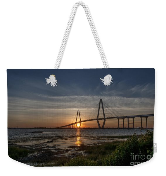 Sunset Over The Bridge Weekender Tote Bag