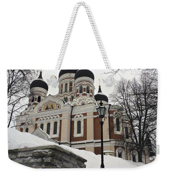 Tallinn Estonia Weekender Tote Bag