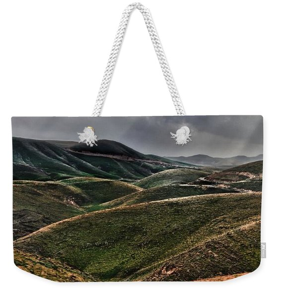 The Lord Is My Shepherd Judean Hills Israel Weekender Tote Bag