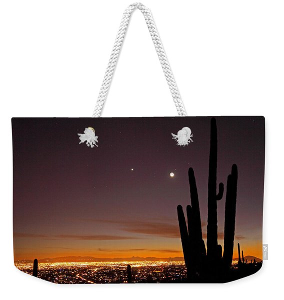 Tucson At Dusk Weekender Tote Bag