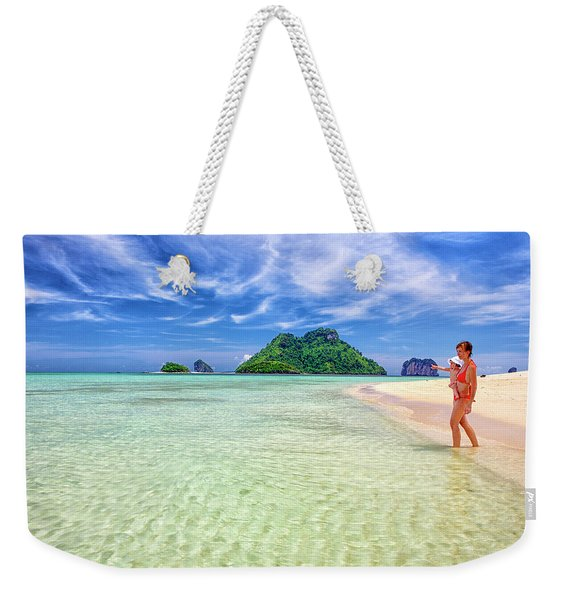 Turquoise Waters And White Sand In Ko Weekender Tote Bag