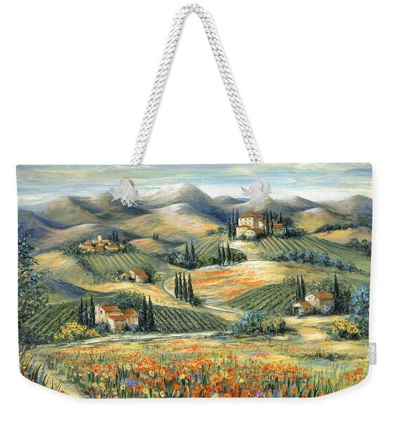 Tuscan Villa And Poppies Weekender Tote Bag